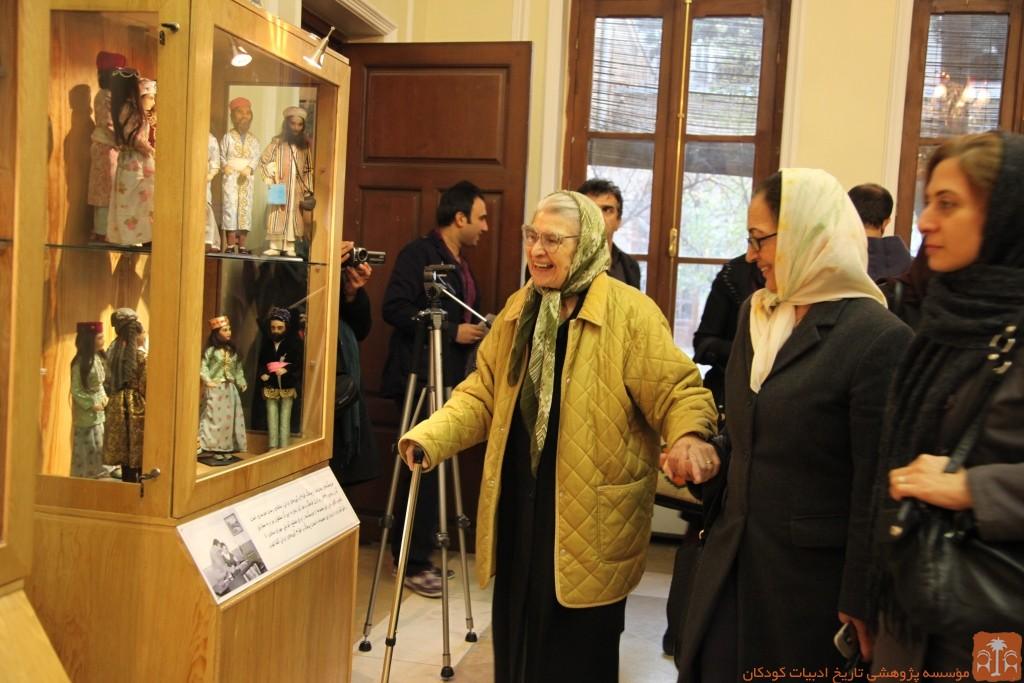 توران میرهادی در نمایشگاه موزه تاریخ فرهنگ کودکی