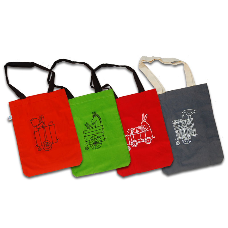 کیسه پارچهای با من بخوان در ۴ طرح مختلف